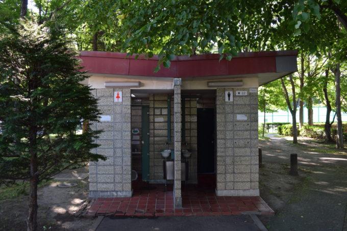 伏古公園管理事務所付近にあるトイレ