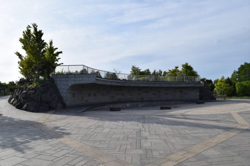 川下公園の壁泉