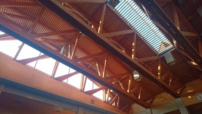 川下公園リラックスプラザの天井