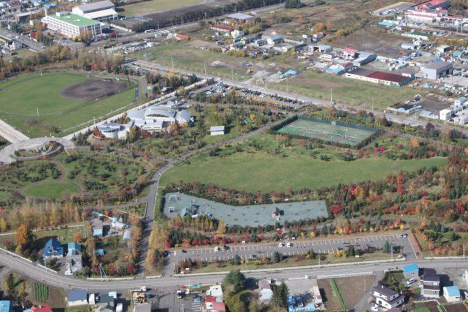 川下公園の航空写真