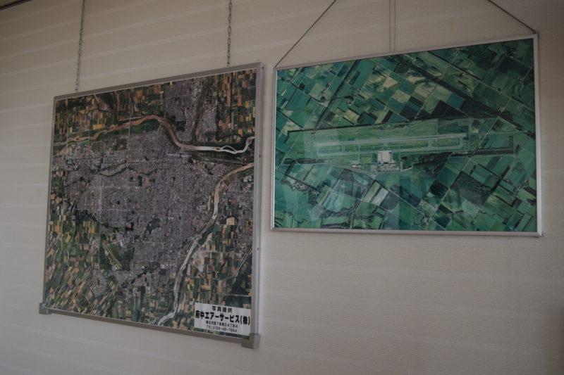 帯広空港を上空から撮影した航空写真