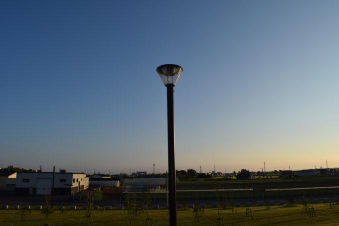 きたかぜ広場付近の街灯