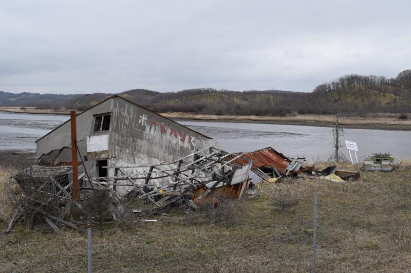 馬主来橋付近にあるボートハウス