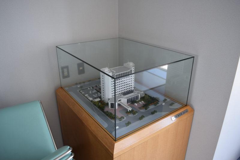 滝川市役所新庁舎のスケールモデル