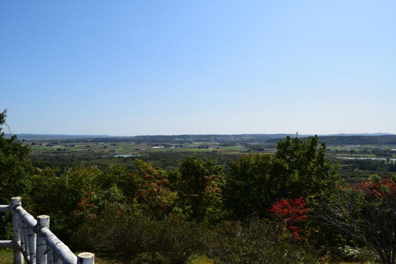 十勝が丘展望台から幕別町市街方面。