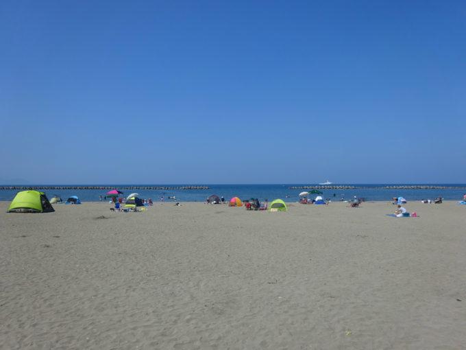 銭函海水浴場から望む日本海