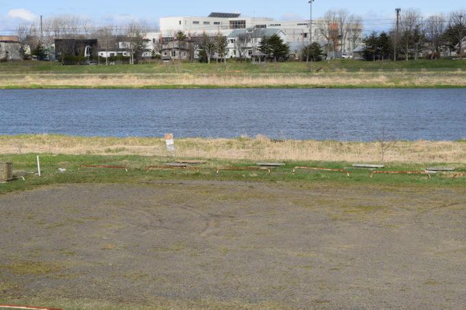 新釧路川緑地 鶴見橋下左岸