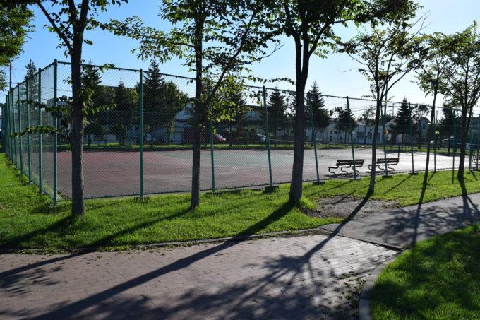愛国西公園にあるテニスコート