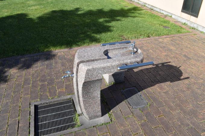 パークゴルフ場の水飲み場・手洗い場