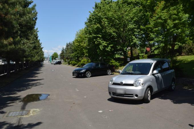 新富公園の駐車場