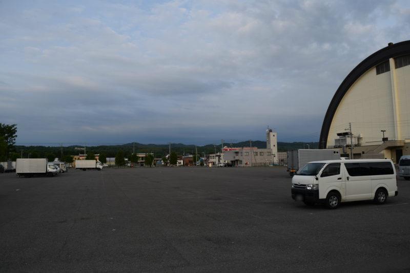 旭川大雪アリーナの駐車場
