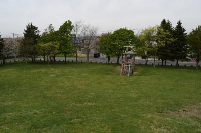 築山からの広場