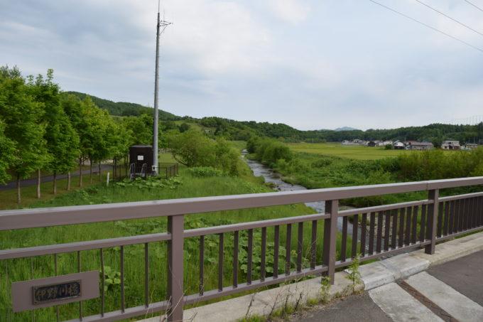 北海道道937号上雨紛台場線沿いに架かる伊野川橋