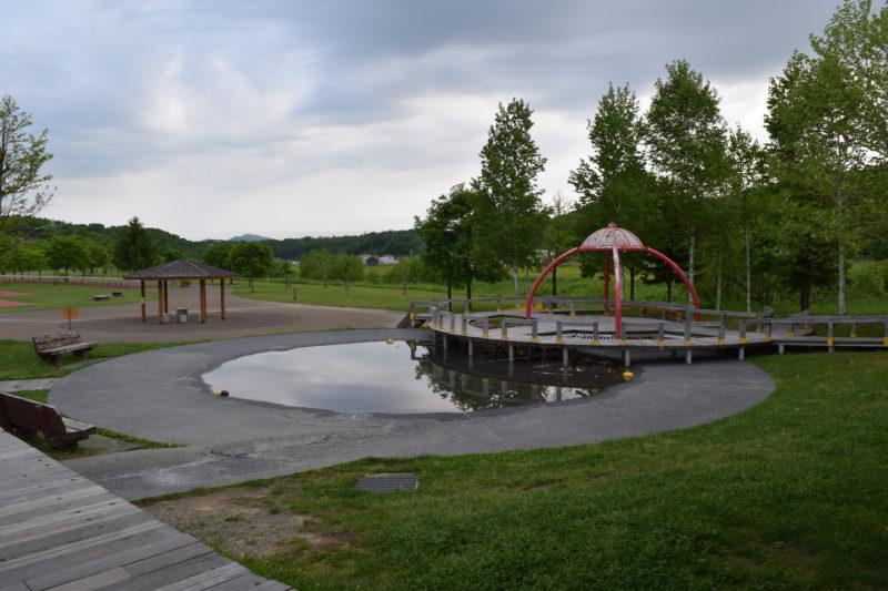 水遊びができる徒渉池