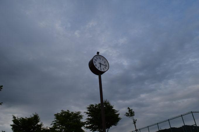 遊具広場の時計