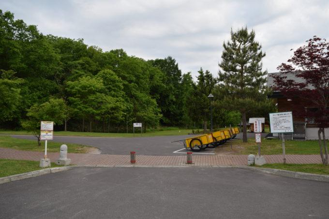 カムイの杜公園キャンプ場入口付近