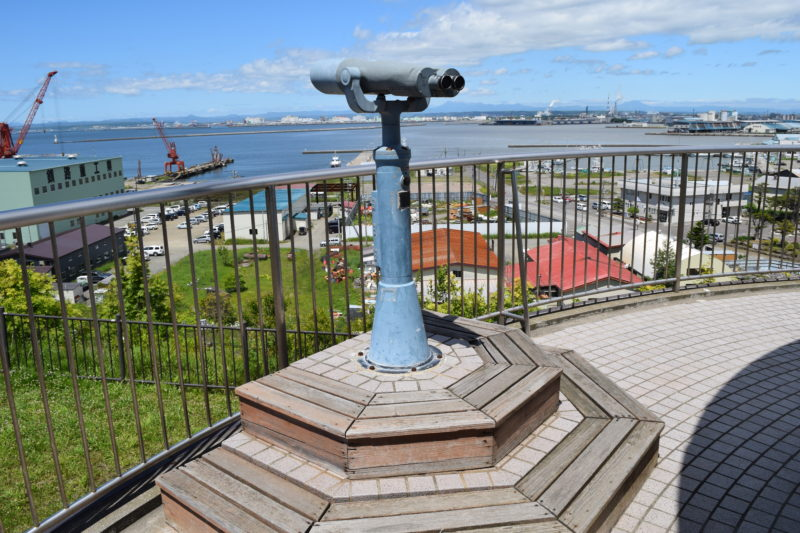 米町展望台の観光望遠鏡