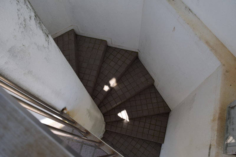 米町展望台の階段