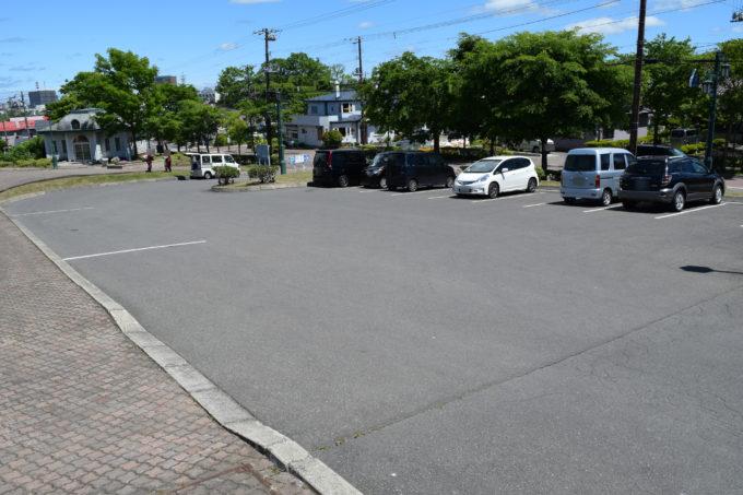 米町公園の無料駐車場