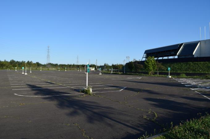 釧路大規模運動公園の駐車場