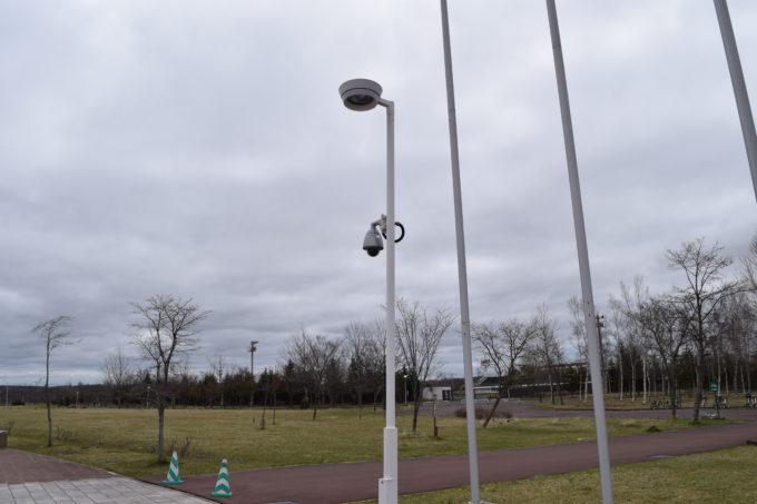 湿原の風アリーナ釧路付近にある防犯カメラ