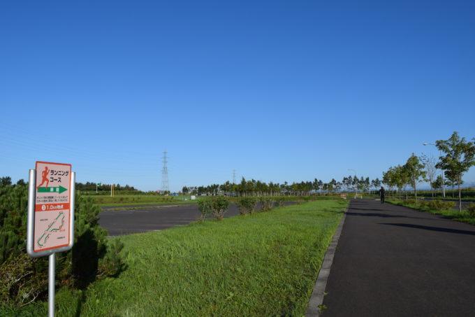 釧路大規模運動公園内にある1周3.18kmのランニングコース