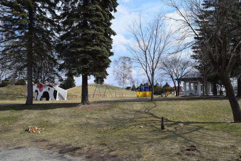 白樺公園の遊具広場