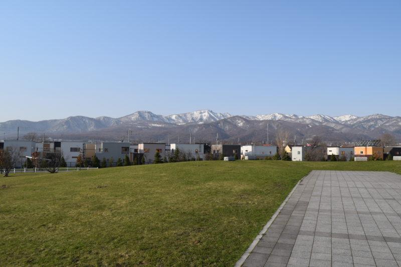 明日風公園からの手稲山