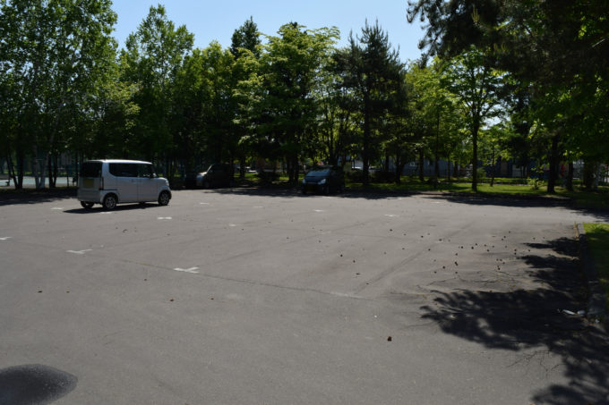 末広中央公園の無料駐車場