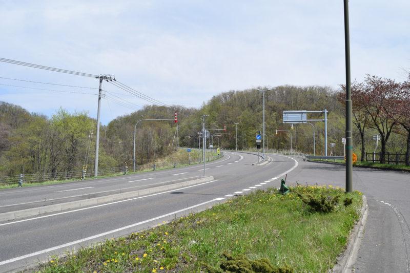鹿追町方面の国道274号