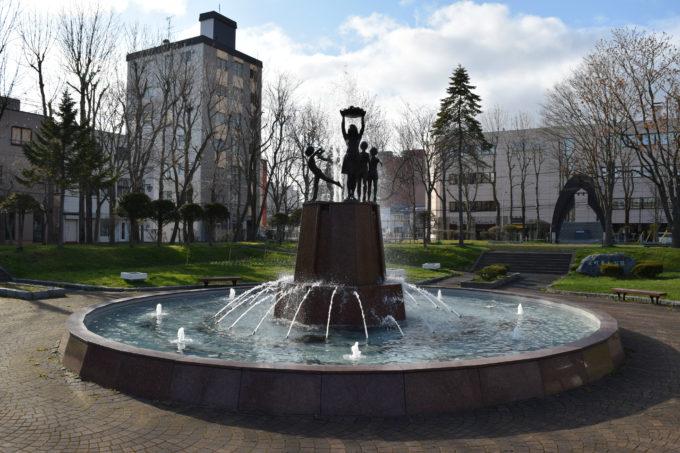 栄町平和公園のシンボルでもある噴水