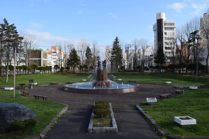 栄町平和公園の噴水