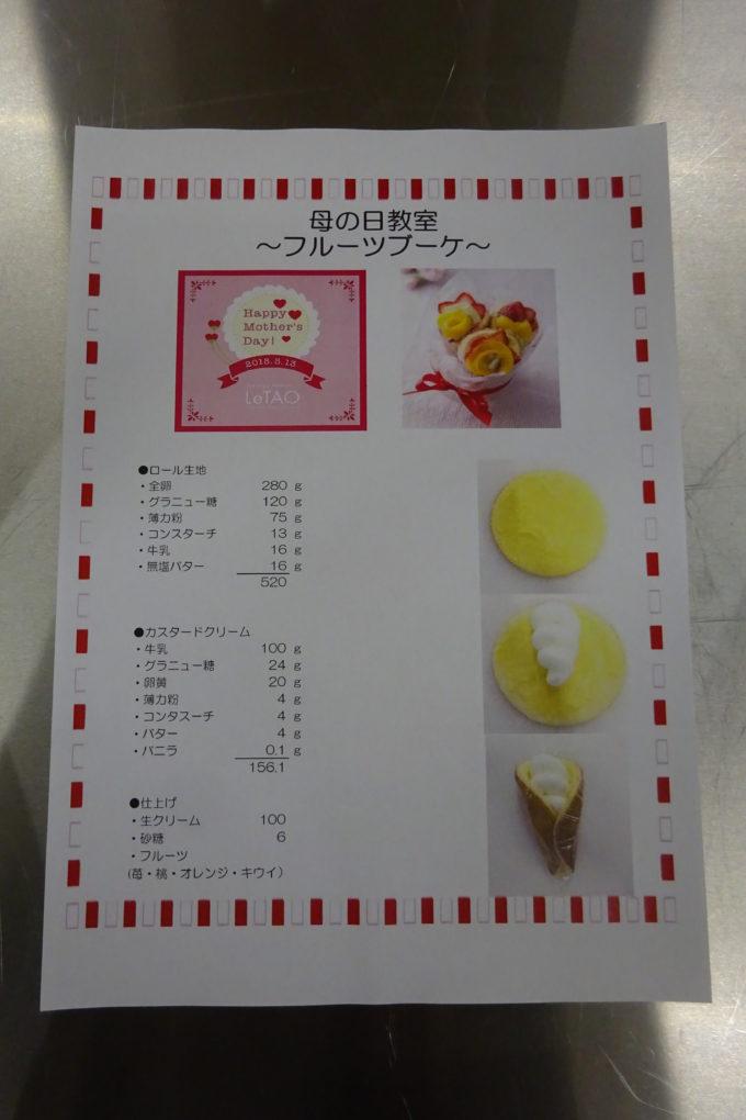 母の日教室 フルーツブーケ