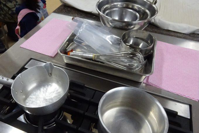 ケーキ作りに必要な道具や具材は全て用意があるので手軽に参加しやすい