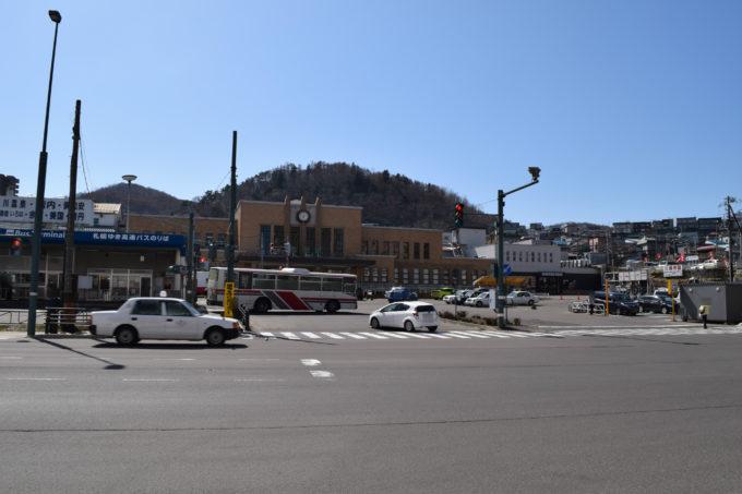 JR小樽駅と北海道中央バス小樽ターミナル