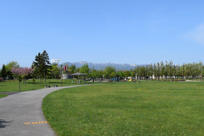 石狩ふれあいの杜公園からの手稲山