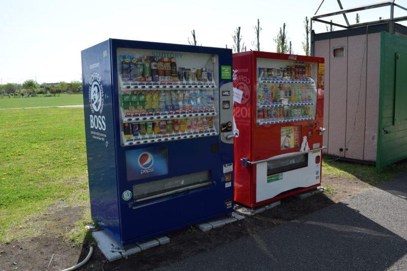 西駐車場付近にある自動販売機