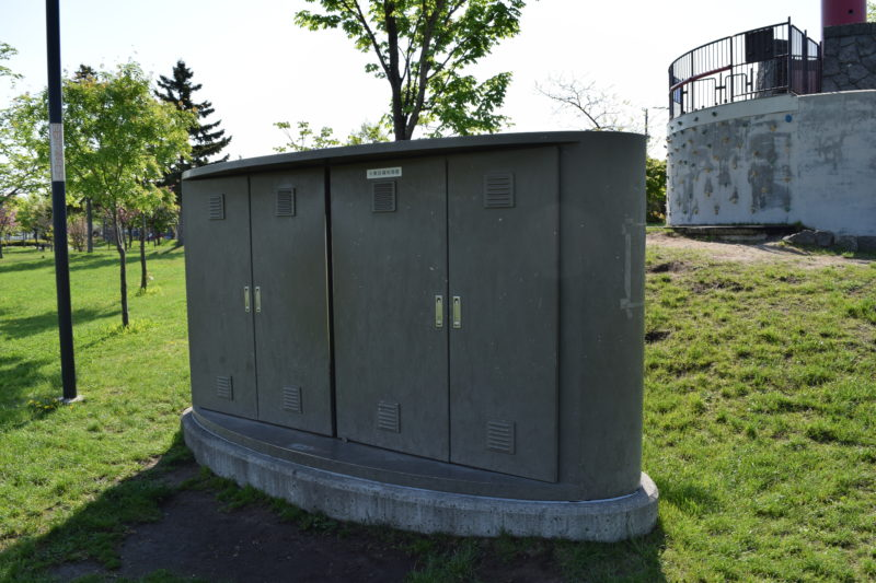石狩ふれあいの杜公園水景設備制御盤