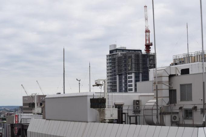 ステラ9からのマンションやビルの建設工事