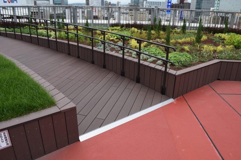 ガーデン部分のスロープ
