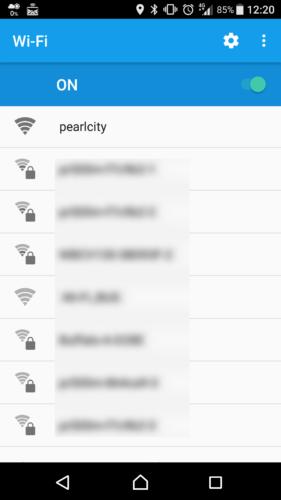 SSID「pearlcity」を選択。