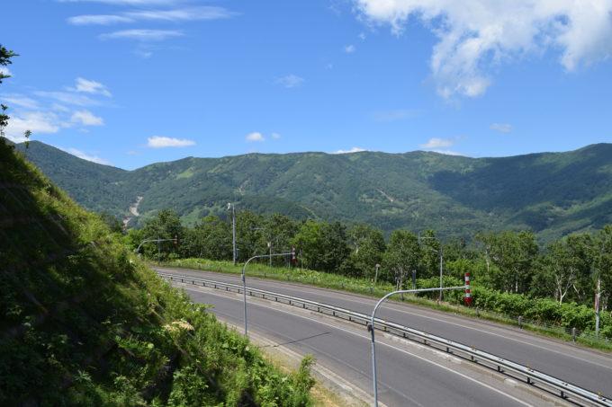 日勝峠展望台からの眺め