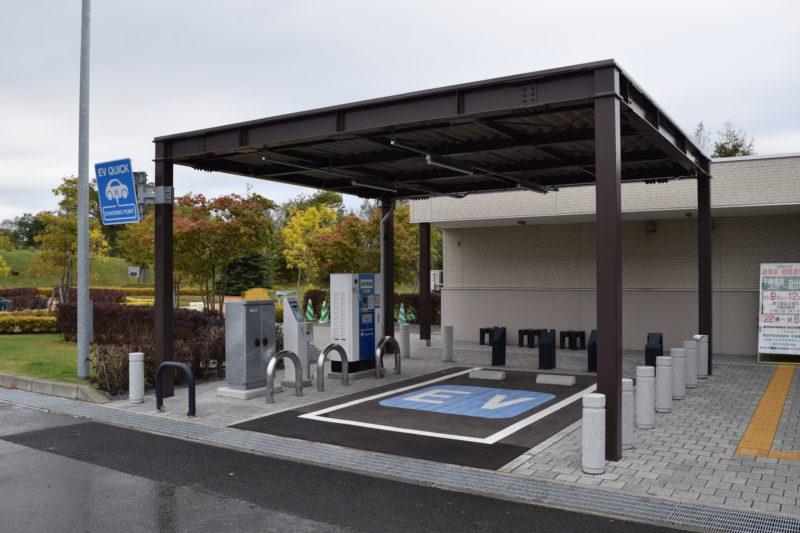 由仁PA下り設置のEV急速充電スタンド(電気自動車充電スタンド)