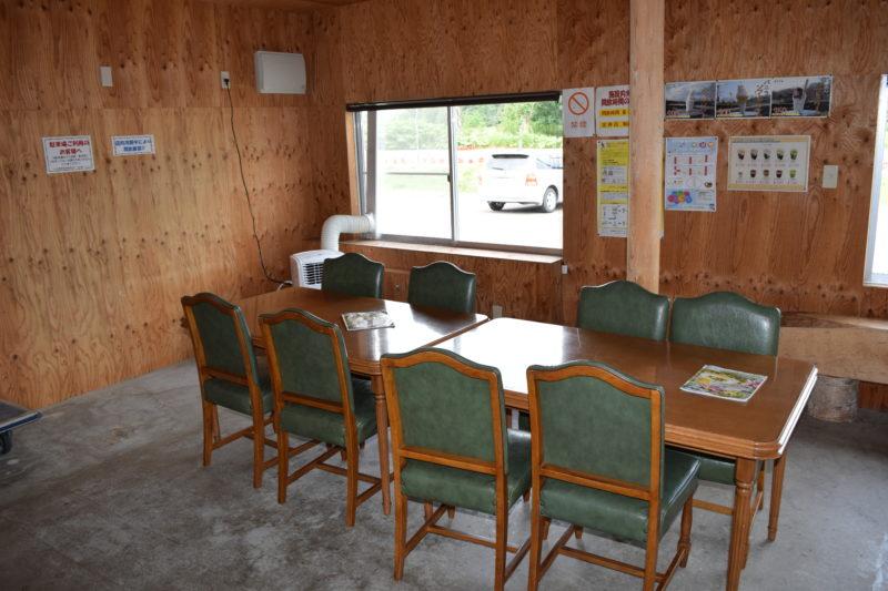 菜の館ベジタ内にある休憩スペース