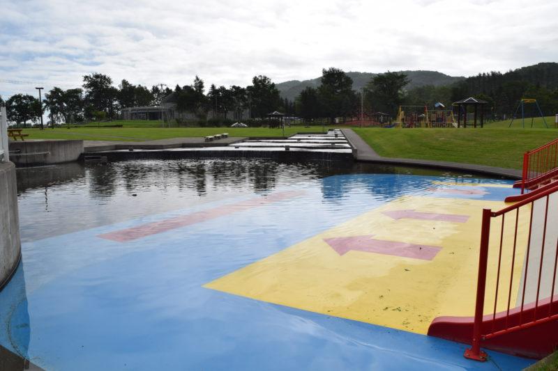 ナウマン公園名物の水遊び場