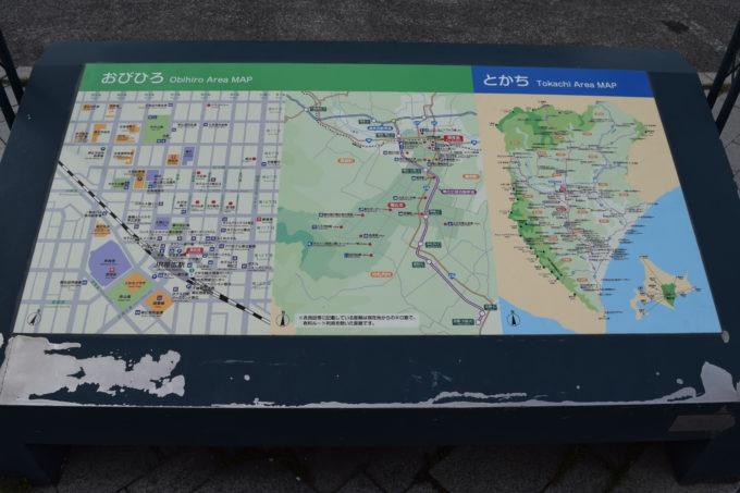 帯広駅近郊・十勝館内地図