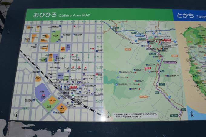 帯広駅・帯広市内地図