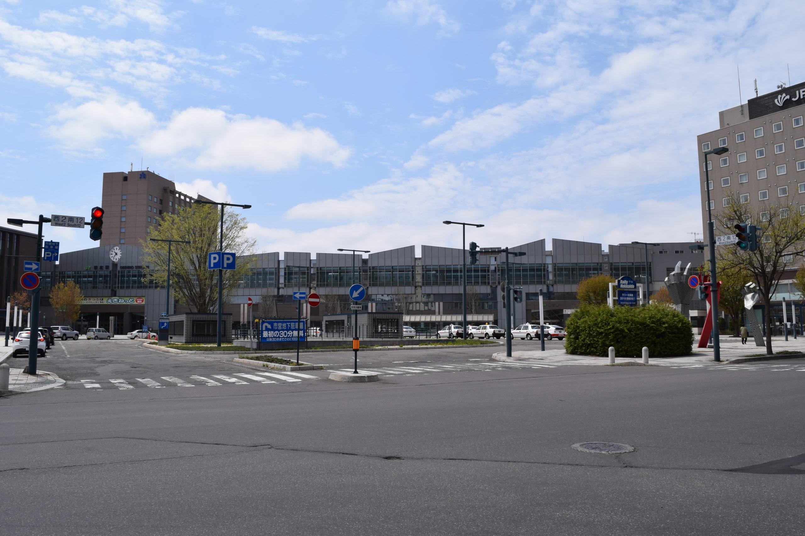 JR帯広駅の周辺地図・構内図