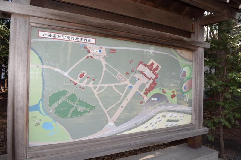 北海道神宮境内地案内図