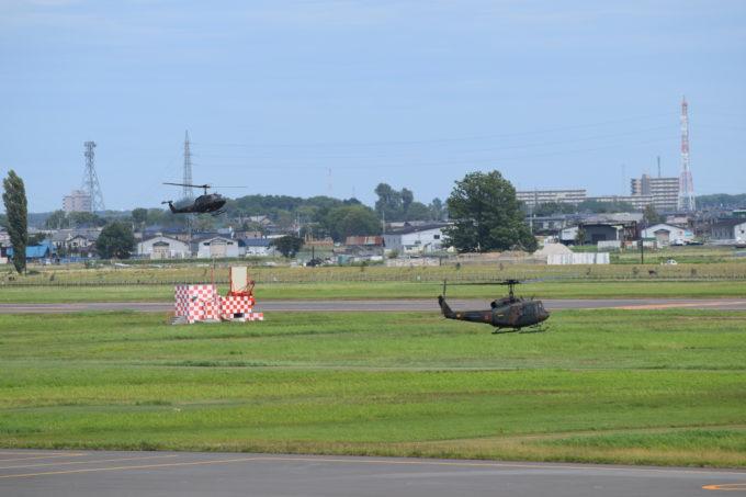 陸上自衛隊丘珠駐屯地の自衛隊ヘリ